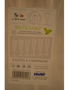 FLUTE A CHAMPAGNE 13CL X6 - Cuisines & Vaisselles