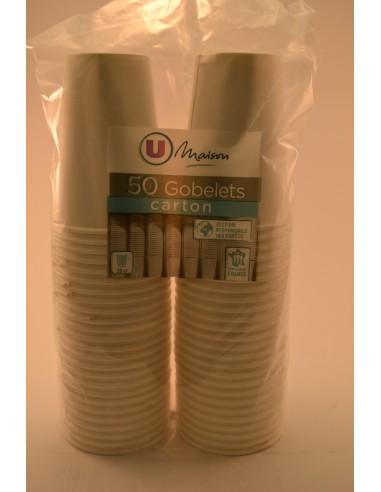 GOB.CARTON U MAI.20CL BLC X50 - Cuisines & Vaisselles