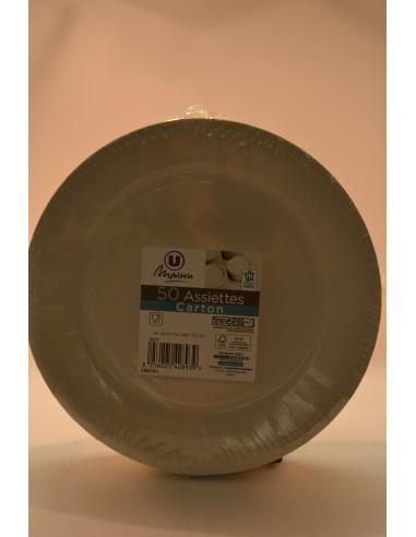 ASS.CARTON U MAI.23CM BLC X50 - Cuisines & Vaisselles