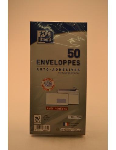 ENV.FENETRE OXFORD 110X220 X50 - Papeterie - Fournitures & Jeux