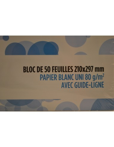 BLOC CORRESP.U 50F.21X29,7CM - Papeterie - Fournitures & Jeux