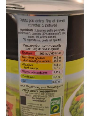 4/4 POIS CAROTTE EXT/FIN DAUCY - Conserves & Bocaux