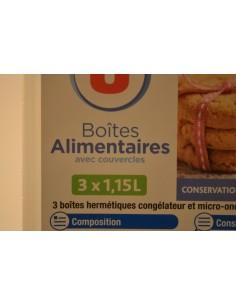 BOITES PLASTIQUES U 3X1,15L - Accessoires ménagers