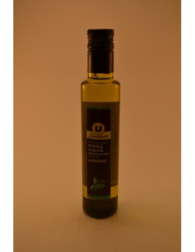 25CL HUILE OLIV.BASIL.U SAVEUR - Assaisonnements & Condiments
