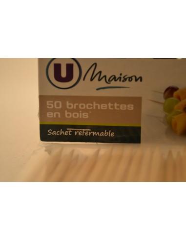 50 BROCHETTE BOIS 30CM U MAIS - Accessoires ménagers