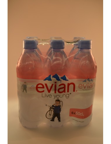 EVIAN PACK 6X50CL - Eaux