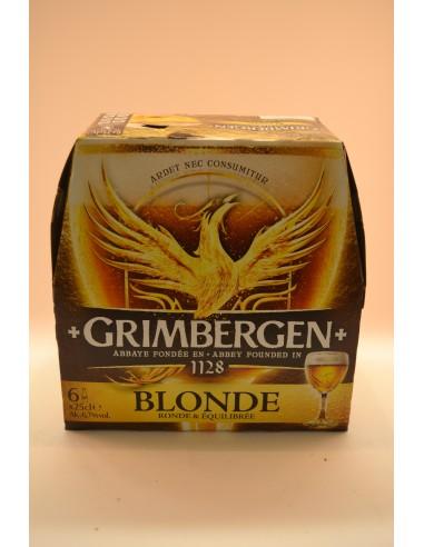 BIERE BLONDE GRIMBERGEN 6X25CL - Bières