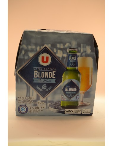 BLONDE SANS ALCOOL U 6X25CL - Bières