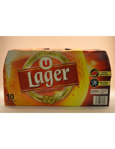 BIERE BLONDE U 4,2° PK 10X25CL - Bières