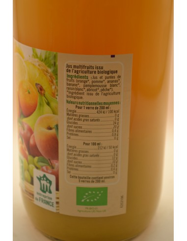 PUR JUS MULTIFRUITS U BIO B.1L - Jus de fruits & Légumes