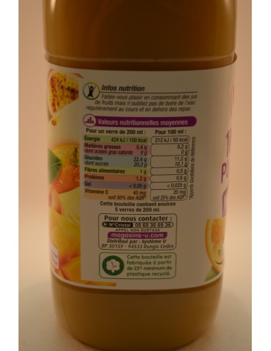 PUR JUS MULTIFRUITS U PET 1L - Jus de fruits & Légumes
