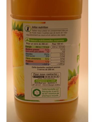 PUR JUS D ANANAS U PET 1L - Jus de fruits & Légumes