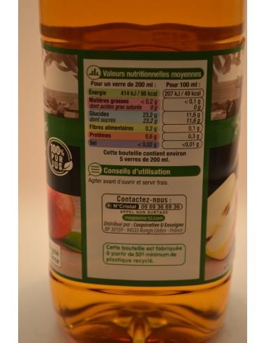 P/JUS POMME NORMANDIE U PET 1L - Jus de fruits & Légumes