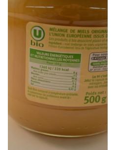 MIEL CREMEUX U BIO P/VERRE500G - Petits déjeuners