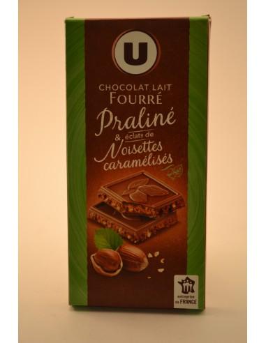 CHOC.LAIT FOURRE PRALIN.U 150G - Chocolats