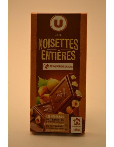 200G CHOC.LAIT NOISETTES ENT.U - Chocolats
