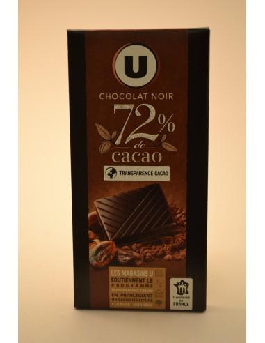 100GCHOCOLAT NOIR DEGUST.72% U - Chocolats