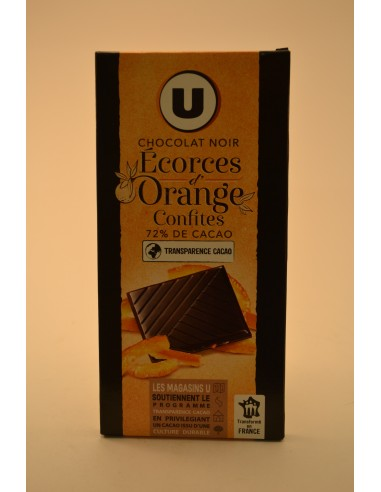 100G CHOC.NOIR DEG.EC.ORANGE U - Chocolats