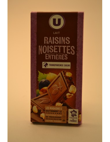 CHOC.LAIT/RAISIN/NOISET.U 200G - Chocolats
