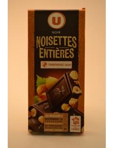 CHOCO.NOIR NOISETTE ENT.U 200G - Chocolats