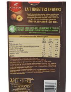 COTE D OR LAIT NOISETTES 180G - Chocolats