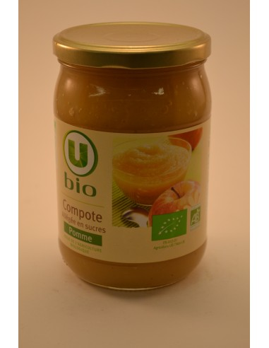 BOCAL ALL.POMMES U BIO 650G - Desserts