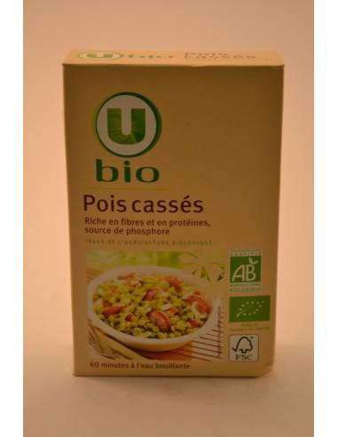 POIS CASSES U BIO 500G - Pâtes - Riz & Féculents