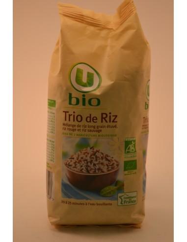 TRIO DE RIZ U BIO 500G - Pâtes - Riz & Féculents
