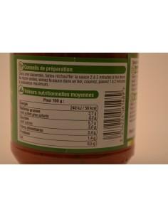 420G SAUCE TOMATES BASILIC U - Sauces