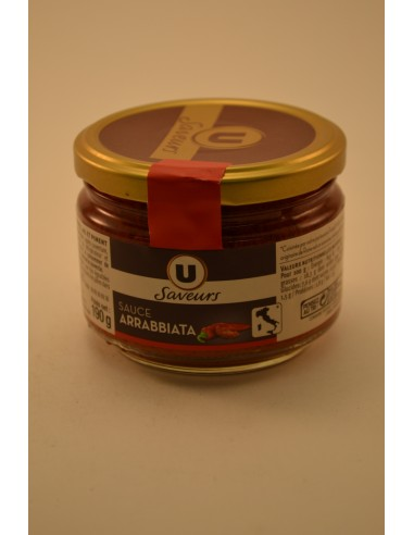 SCE ARRABBIATA U SAVEURS 190G - Sauces