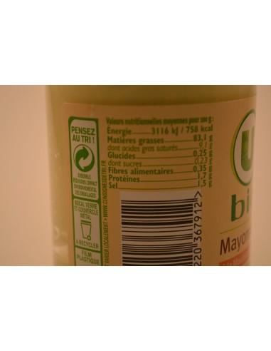 MAYONNAISE U BIO BOCAL 180G - Sauces