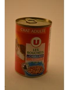 BOUCHEES CABILLAUD/SAUMON U 400G - Chiens & Chats