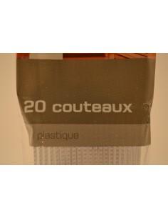 COUT.U MAI.PLAST.TRANSP.X20 - Cuisines & Vaisselles